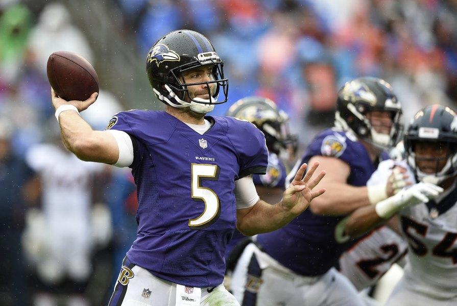 new products eb5e8 88b0f Joe Flacco shines as Ravens deal Broncos first loss, 27-14 ...
