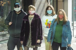 (Rick Egan | The Salt Lake Tribune file photo) Shoppers and commuters wear masks in downtown Salt Lake City on Wednesday, Dec. 2, 2020. With a more contagious coronavirus variant circulating in Utah, Gov. Spencer Cox is suggesting that Utahns upgrade their masks.