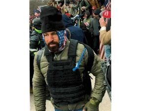 (Photo courtesy of the U.S. Department of Justice)  Authorities say this photo shows Brady Knowlton, of St. George, attending a protest outside the U.S. Capitol on Jan. 6, 2021. Knowlton has been accused of taking part in the Jan. 6 insurrection at the Capitol.