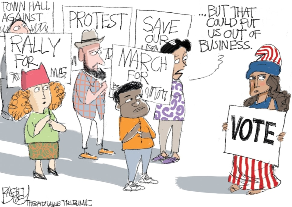 This Pat Bagley cartoon appears in The Salt Lake Tribune on Wednesday, July 18, 2018.