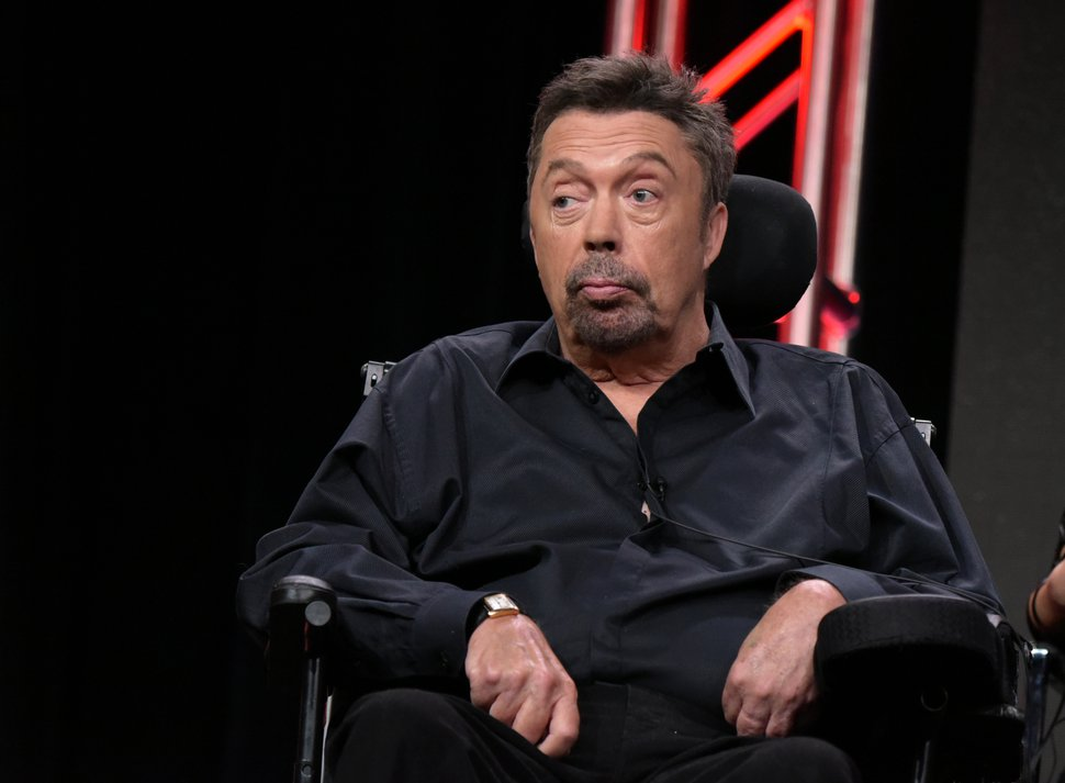Tim Curry participates in the panel for