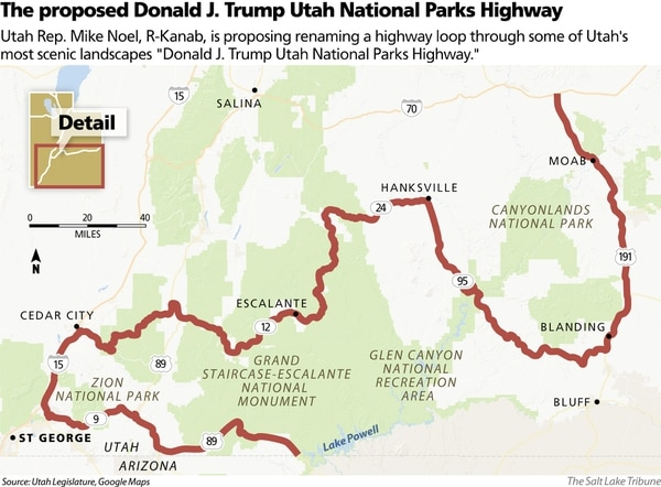 Plan to name Utah highway after Trump clears hurdle