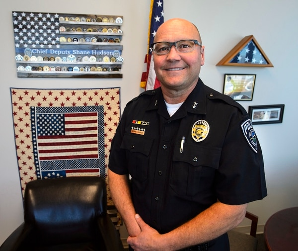 (Steve Griffin   The Salt Lake Tribune) UPD Deputy Chief Shane Hudson at the Sherrif's Office Building on Wednesday, Feb. 28, 2018. Hudson will be retiring soon and wants to become a high school teacher.