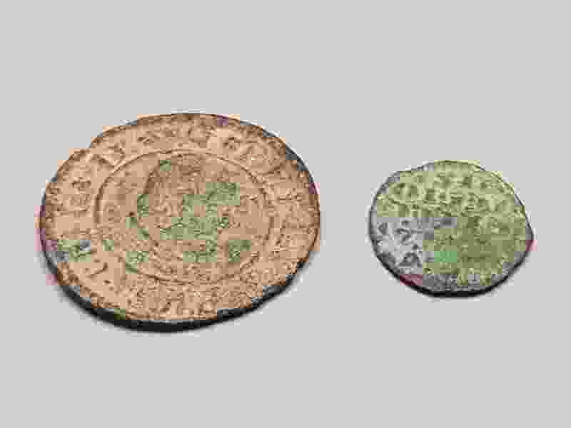 Where did ancient Spanish coins found in Utah's Glen Canyon come from?