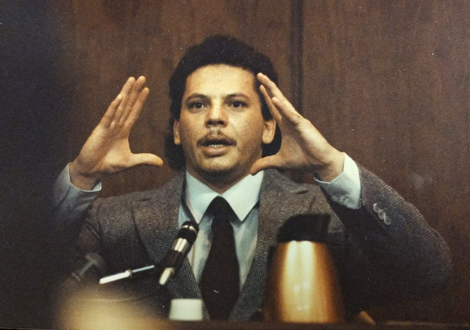 (Tribune file photo) Michael Anthony Archuleta, at his 1989 trial for the rape, beating and murder of college student Gordon Church — which ultimately put Archuleta on death row. The case is the subject of the documentary