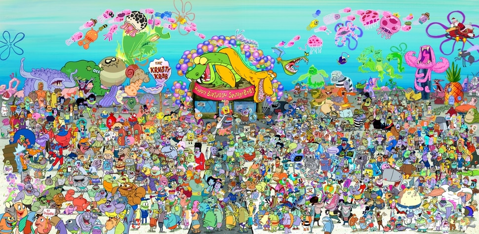 (Photo courtesy Nickelodeon) There have been more than 760 characters on SpongeBob Squarepants since the show premiered in 1999 — and they're all pictured here.