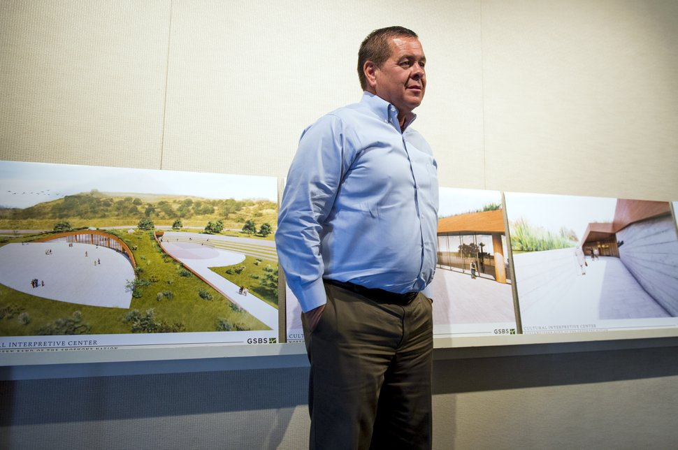 (Leah Hogsten   Tribune file photo) Darren Parry, former chairman of the Northwestern Band of the Shoshone Nation, talks on May 8, 2018 about the tribe's plan to build the Boa Ogoi Cultural & Interpretive Center to educate and enlighten the public about the history of the Northwestern Shoshone Band, their life ways, enduring spirit and the 1863 Bear River Massacre, the single largest mass killing of Native Americans in United States history.