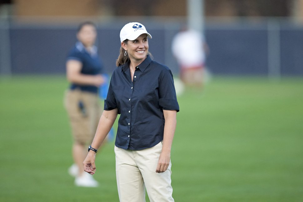 (Jaren Wilkey | BYU) Jennifer Rockwood is the coach of BYU women's soccer team. She is in her 16th season, building a nationally ranked program.