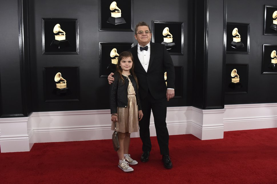 (Jordan Strauss | Invision/AP file photo) Patton Oswalt, right, and his daughter Alice Oswalt at the 61st annual Grammy Awards on Feb. 10, 2019. The comedian has described the day he told his daughter that her mother had died as the worst day of his life.