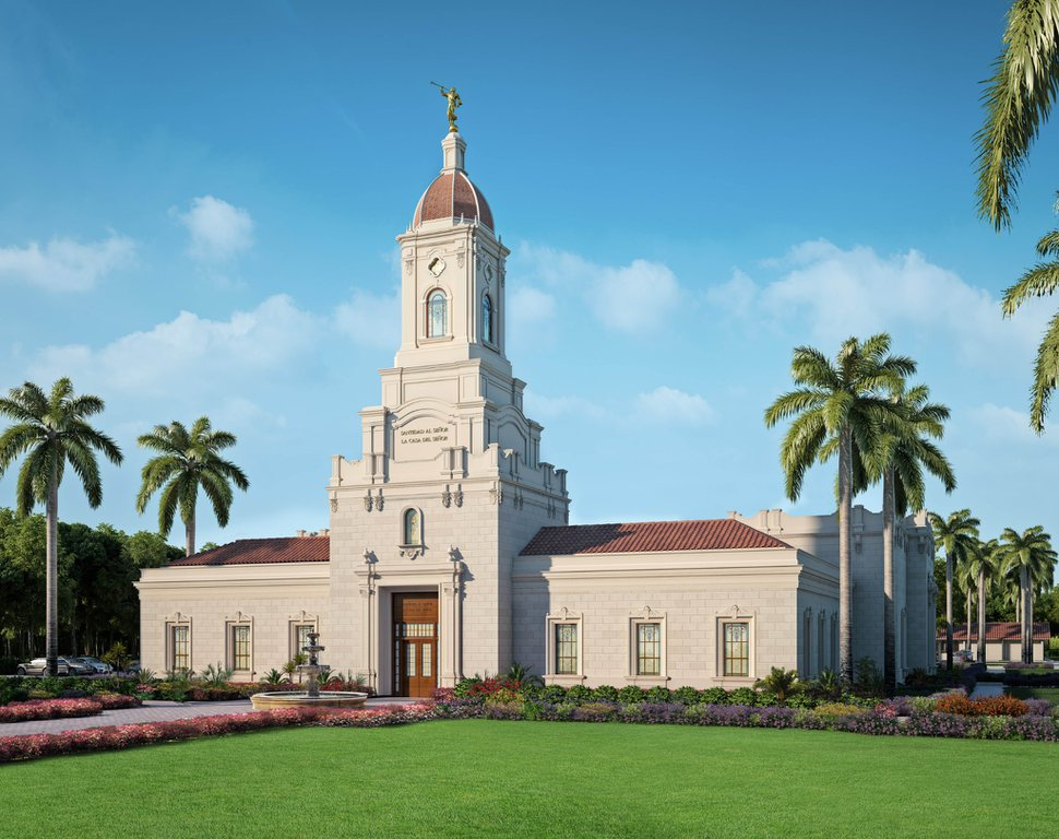 (Photo courtesy of The Church of Jesus Christ of Latter-day Saints) Rendering of the Puebla Mexico Temple.