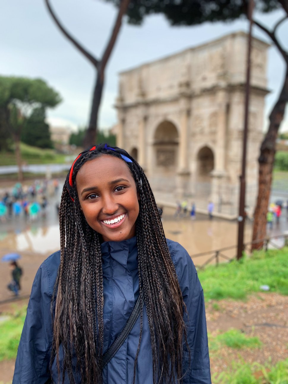 (Photo courtesy of Ladan Mohamed) Mohamed takes photos on a family trip to Rome to celebrate her college graduation in 2019.