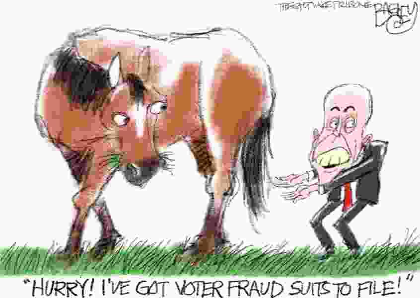 Bagley Cartoon: Giuliani's Gift Horse