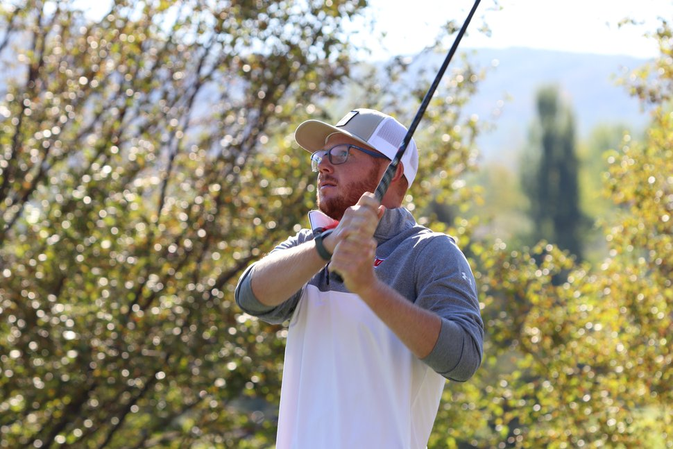 Mitchell Schow plays in the 122nd Utah State Amateur at Jeremy Ranch on Friday, Sept. 4, 2020. Fairways Media/Randy Dodson