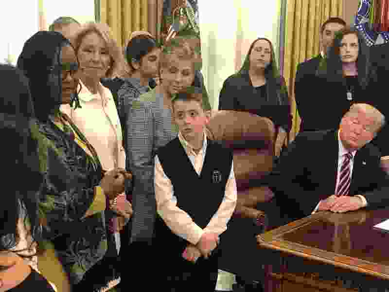 Utah kid forced to clean his forehead on Ash Wednesday gets promise from Trump