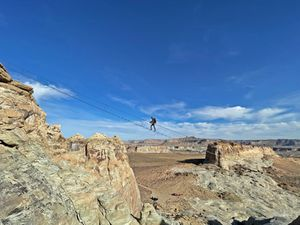 (Amangiri) This month, Amangiri — a 600-acre, five-star luxury resort in Canyon Point, Utah — opened a 200-foot-long steel staircase as part of its via ferrata hiking systems.