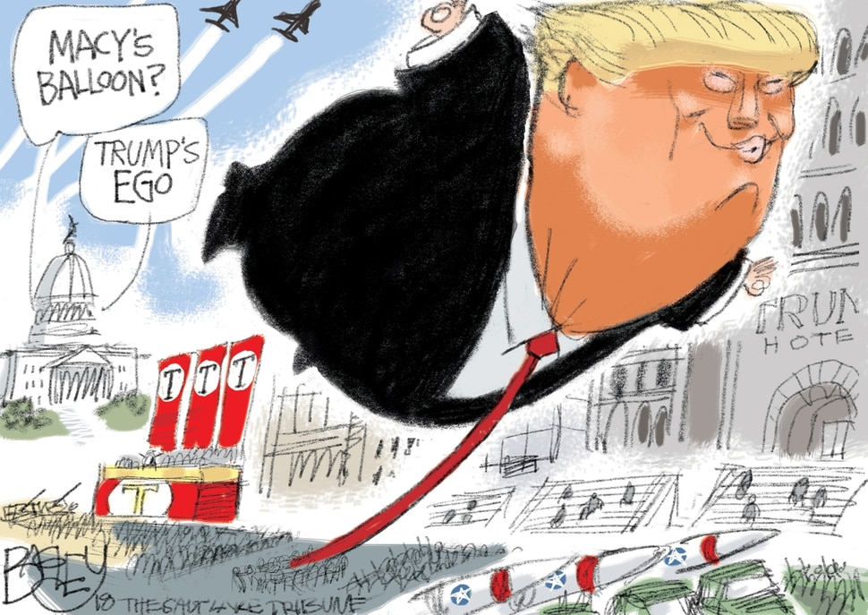 This Pat Bagley cartoon appears in The Salt Lake Tribune on Feb. 8, 2018.