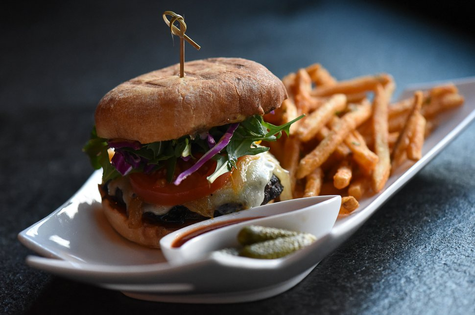 (Francisco Kjolseth | The Salt Lake Tribune) The Brothel Burger at the new London Belle Supper Club, a new Salt Lake City bar named after Belle London, a famous Utah madam, at 321 S. Main.