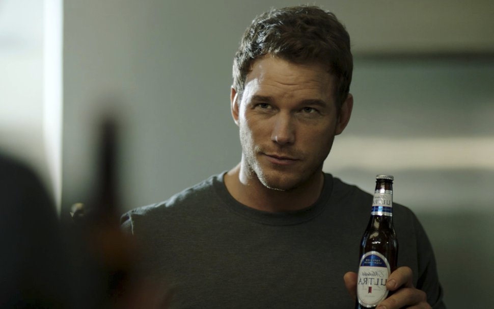 "This image released by Anheuser-Busch shows actor Chris Pratt in a scene from a Michelob Ultra commercial. Pratt, the star of the ""Jurassic World"" and ""Guardians of the Galaxy"" film franchises, will make his advertising debut Super Bowl Sunday in a pair of commercials for the light beer. (Anheuser-Busch via AP)"