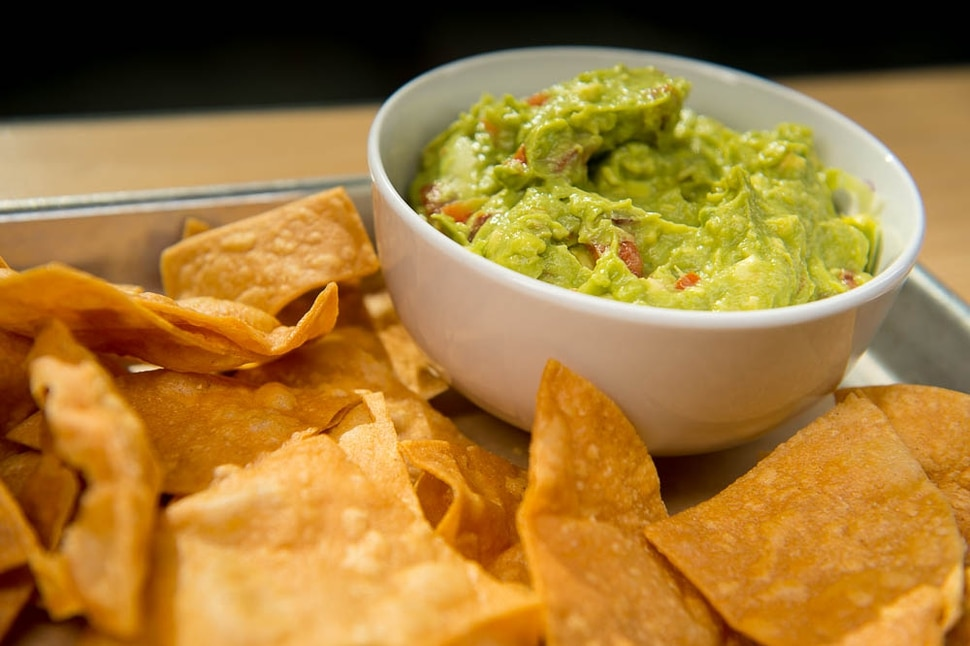 (Trent Nelson | The Salt Lake Tribune) Chips & Guac at Boltcutter, a new vegan/vegetarian restaurant in Salt Lake City, Friday Feb. 16, 2018.
