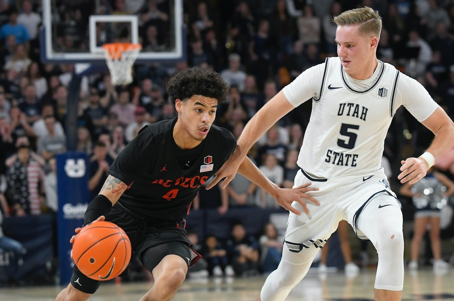 Utah State sees multiple streaks halted despite Neemias Queta's return to lineup with loss to No. 13 San Diego State