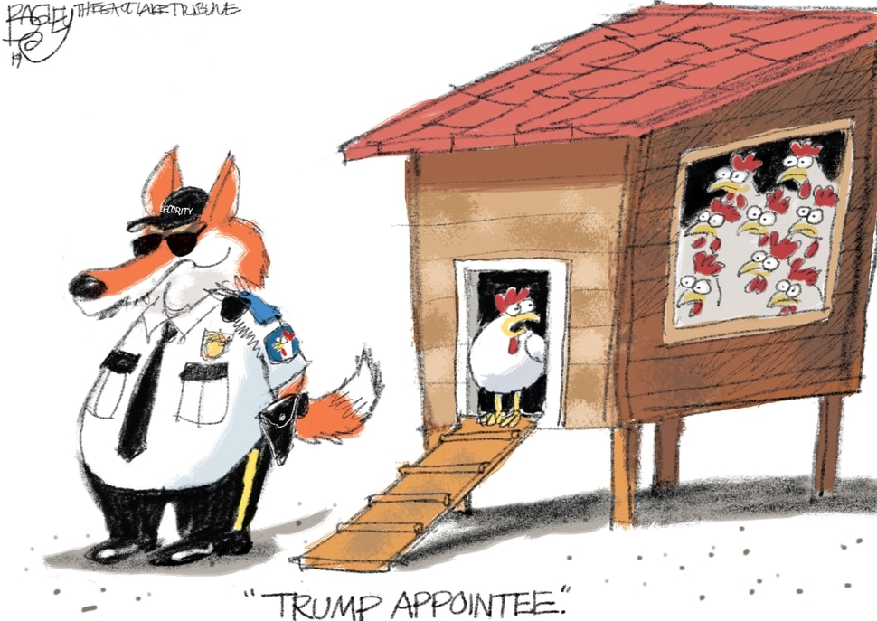 This Pat Bagley cartoon appears in The Salt Lake Tribune on Thursday, March 21, 2019.