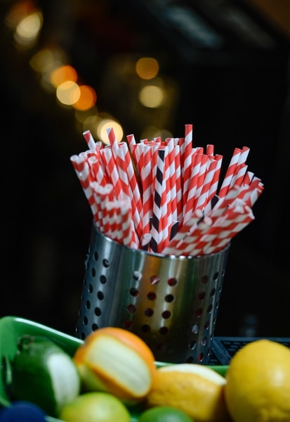 (Francisco Kjolseth | The Salt Lake Tribune) Zest in downtown Salt Lake stopped using plastic straws about two years ago. Now, the staff only gives out biodegradable straws upon customer request. Salt Lake City restaurants, bars and other businesses are being asked to stop handing out plastic straws as part of a new ÒStrawless in SLCÓ campaign. The group is hoping to get 50 restaurants to get on board before Earth Day in April.