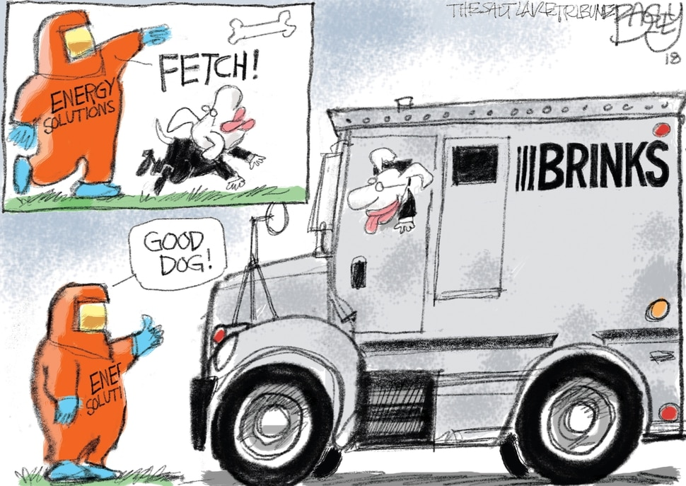 This Pat Bagley cartoon appears in The Salt Lake Tribune on Wednesday Feb. 7, 2018