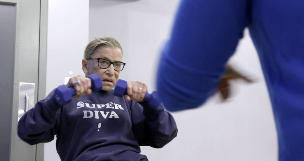(Photo courtesy Magnolia Pictures) U.S. Supreme Court justice Ruth Bader Ginsberg in a scene from the documentary