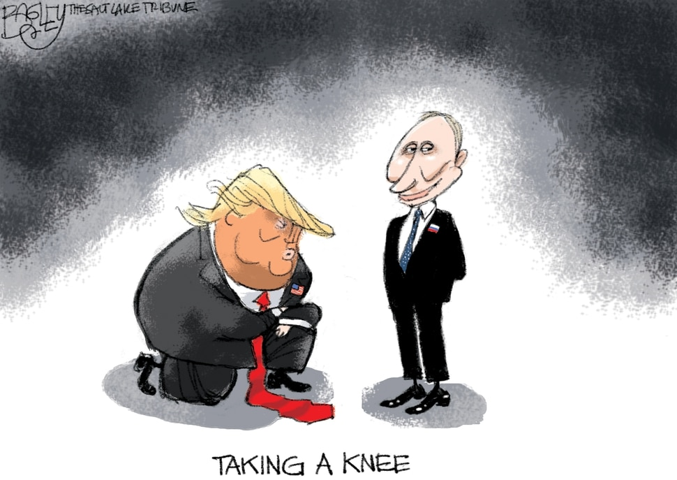 This Pat Bagley cartoon appears in The Salt Lake Tribune on Tuesday, July 17, 2018.