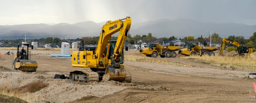 Leah Hogsten | The Salt Lake Tribune Jordan Bluffs is moving forward with the View 72, Phase II development, Monday, Oct. 22, 2018. The 265-acre parcel will be comprised of mixed-use development on the former Sharon Steel superfund industrial site.