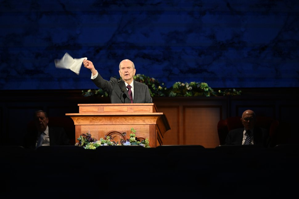 (Photo courtesy of The Church of Jesus Christ of Latter-day Saints) President Russell M. Nelson leads the