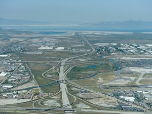 (Francisco Kjolseth  |  The Salt Lake Tribune)  This aerial photo from June 2018 shows where the inland port will be built.