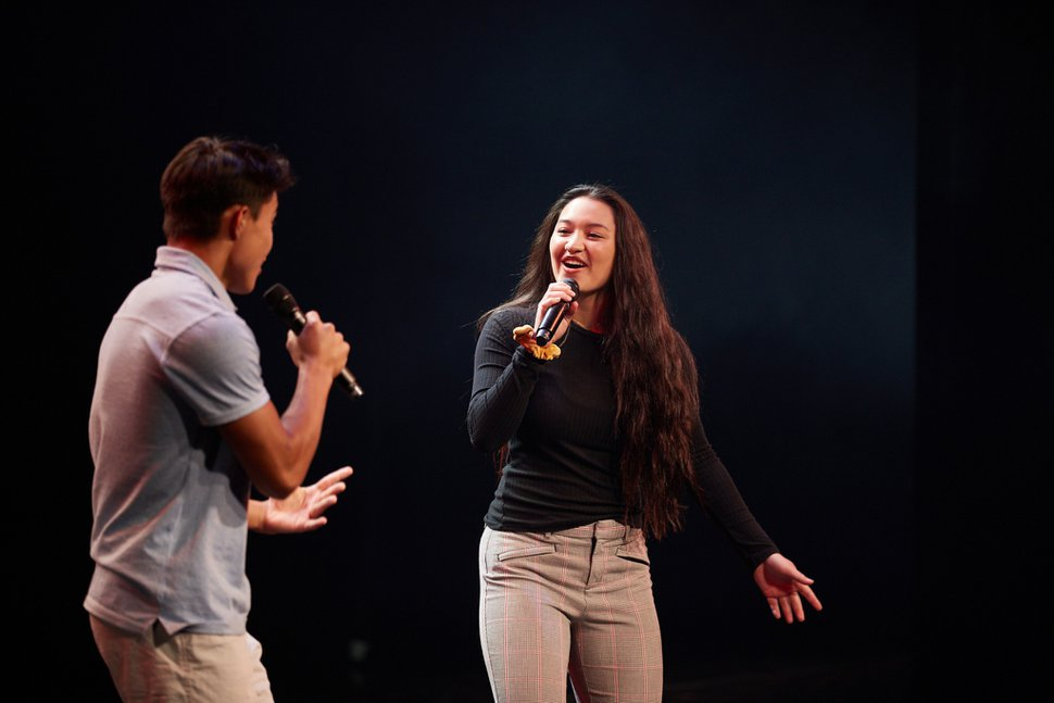 (Photo courtesy of The Church of Jesus Christ of Latter-day Saints) Siblings Ammon and Liahona Olayan, originally from Oahu, Hawaii, perform one of three songs during the Youth Music Festival 2020. The Olayans were among many Latter-day Saint youths from around the world who shared their musical talents and testimonies of Jesus Christ as part of a prerecorded event that aired on Wednesday, July 29, 2020.