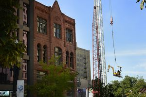(Scott Sommerdorf   |  The Salt Lake Tribune)  Construction of the Eccles Theatre in 2014 affected Martine Restaurant in downtown Salt Lake City.