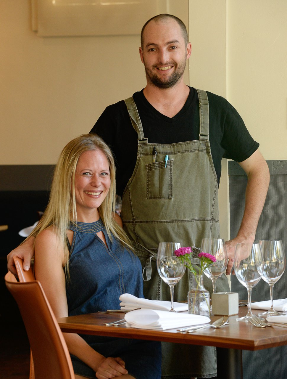 (Francisco Kjolseth | The Salt Lake Tribune) Angelena and Andrew Fuller, owners and operators of Oquirrh, a new fine-dining restaurant in downtown Salt Lake City.
