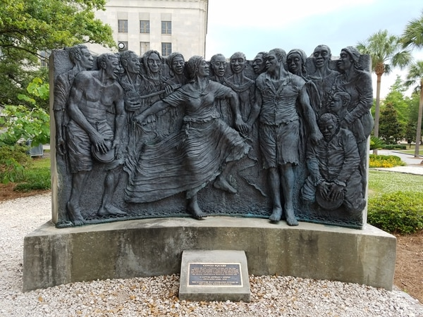 (Photo courtesy of New Orleans Jazz National Historical Park) Congo Square at New Orleans Jazz National Park.