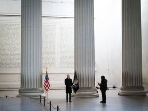 (Doug Mills | The New York Times)  President Joe Biden visits the Lincoln Memorial on Inauguration Day in Washington, Wednesday, Jan. 20, 2021. Every president sets the moral and cultural tone for the nation. We saw that in a terrible way over the past four years. Just by who he is, Biden sets the stage for a moral revival, David Brooks writes.