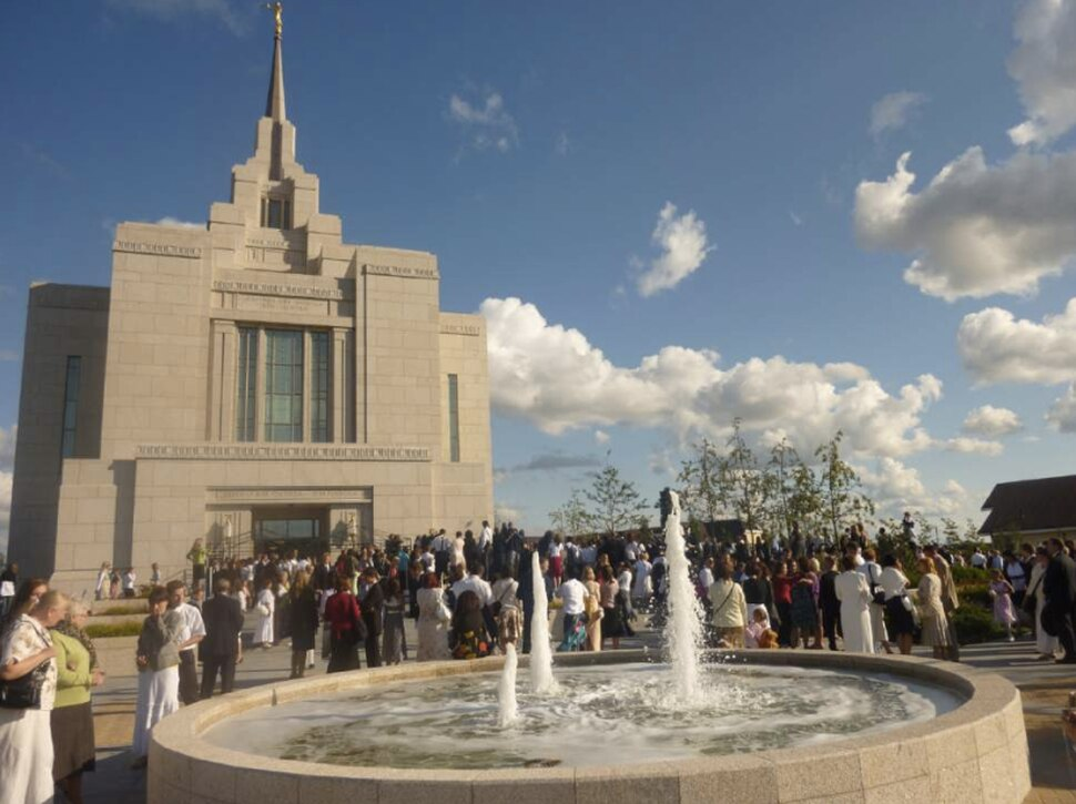 Mormons gather for the August 2010 dedication of their temple in Kiev, Ukraine.