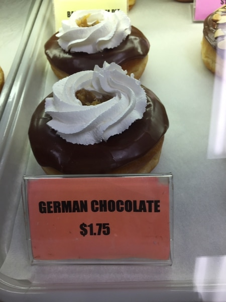 (The Salt Lake Tribune | Kathy Stephenson) The German Chocolate doughnut at Donut Boy in West Valley City.