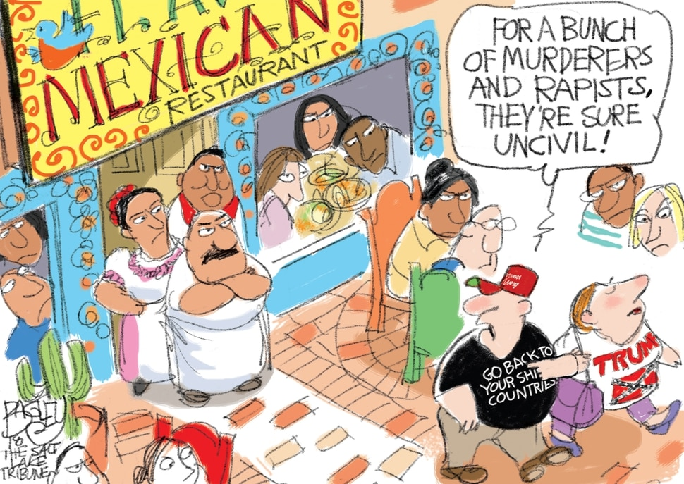 This Pat Bagley cartoon appears in The Salt Lake Tribune on Wednesday, June 27, 2018.