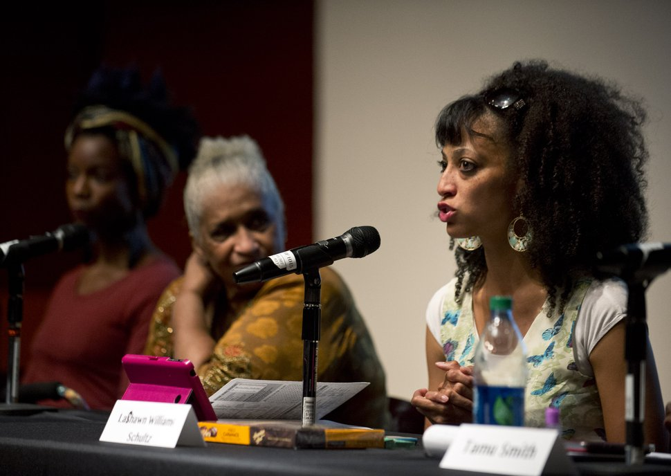 (Tribune file photo) LaShawn Williams speaks at a panel discussion in 2015.