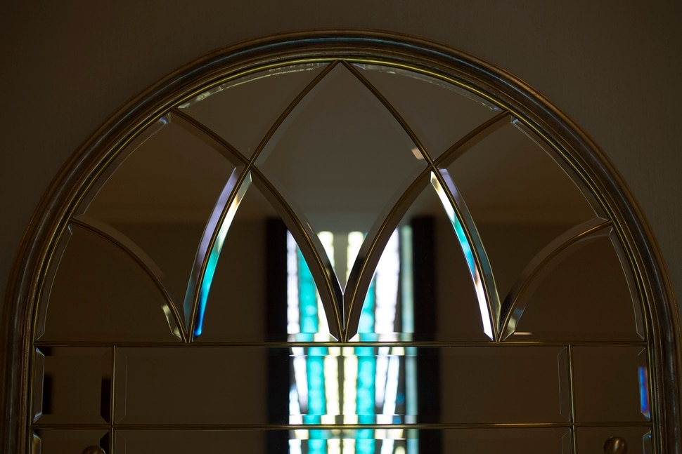 (photo courtesy LDS Church) Artisan windows are in many locations in the Jordan River Utah Temple.