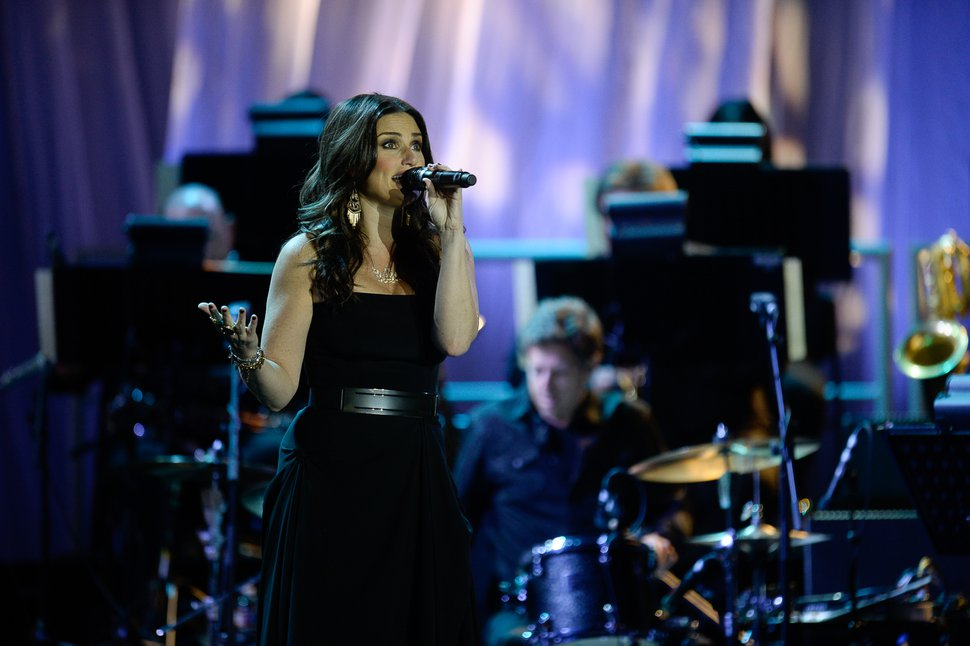 "Francisco Kjolseth | The Salt Lake Tribune Idina Menzel, the Tony Award-winning actress, singer and star of ""Frozen,"" ""Wicked"" and more, performs at Utah's Stars & Friends benefit concert for the Elizabeth Smart Foundation and Operation Underground Railroad at Utah Valley University on Thursday, Oct.1, 2015."