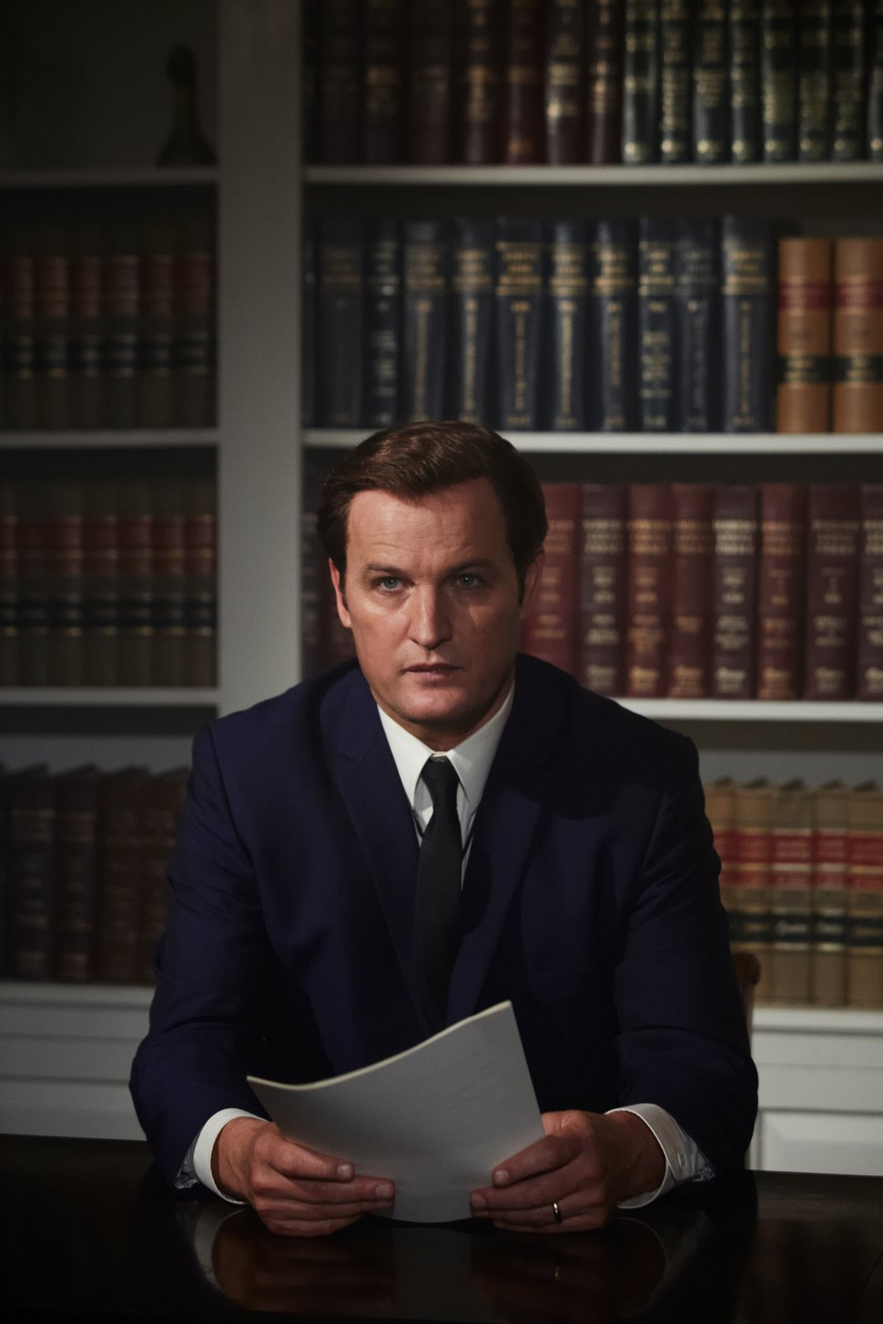 Jason Clarke as Ted Kennedy in a scene from