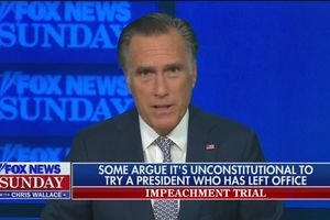 (Screengrab | Grabien) Sen. Mitt Romney argues former President Donald Trump committed an impeachable offense by inciting an attempted insurrection during an appearance on Fox News Sunday, Jan. 24, 2021.