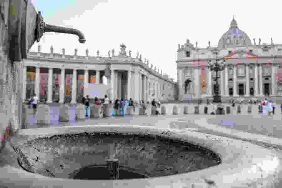 St. Peter's Square fountains being shut off due to drought