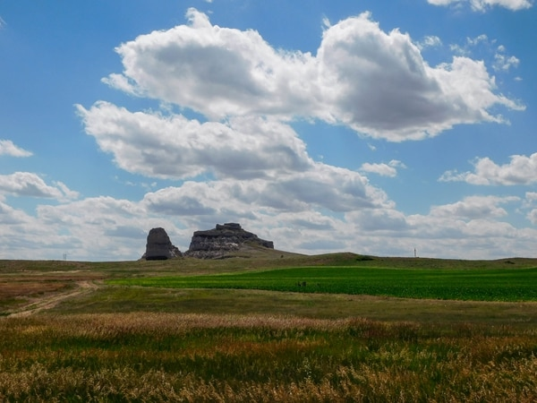 Erin Alberty | The Salt Lake Tribune Scenes from the Oregon Trail: Courthouse & Jail Rock, near Bridgeport, Neb.