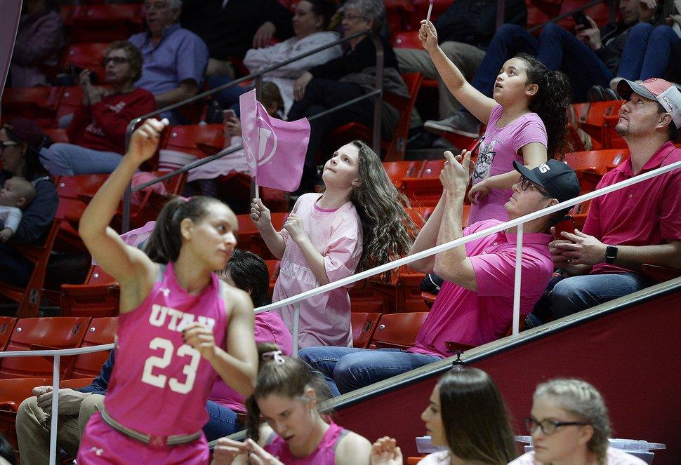 Scott Sommerdorf | The Salt Lake Tribune Fans watch Utah fall to Oregon State 69-58, Friday, January 26, 2018.