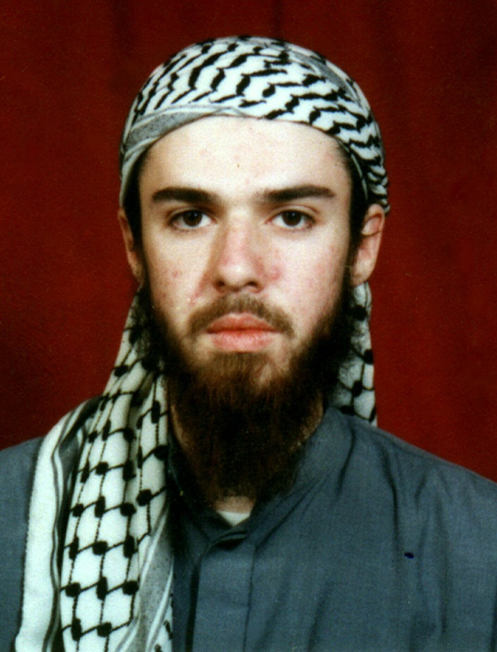 (AP file photo) American John Walker Lindh is seen in this undated file photo obtained Tuesday, Jan. 22, 2002, from a religious school where he studied for five months in Bannu, 190 miles southwest of Islamabad, Pakistan. Lindh, the young Californian who became known as the American Taliban after he was captured by U.S. forces in the invasion of Afghanistan in late 2001, was set free Thursday, May 23, 2019, after nearly two decades in prison.