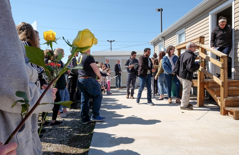 (Francisco Kjolseth | The Salt Lake Tribune) Utah County Commissioner Tanner Ainge organizes a flash mob of solidarity, in response to the Muslim shootings in New Zealand. He promoted the event on his Twitter page saying, How amazing would it be if our #UtahCounty Muslim brothers and sisters walked out of their prayer service today with heavy hearts and found themselves surrounded with love and solidarity from the rest of us? Please show up for a flash mob of solidarity today.